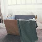 日式衣服玩具雜物收納筐浴室衣物大洗衣簍草編臟衣籃 WJ百分百