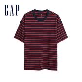Gap男裝棉質舒適條紋短袖T恤592502-紅色條紋