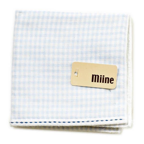 Miine方格紗布手巾