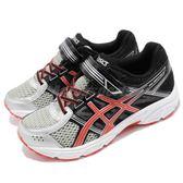 Asics 慢跑鞋 Pre Contend 4 PS 黑 橘 魔鬼氈 童鞋 中童鞋 運動鞋【PUMP306】 C709N9306