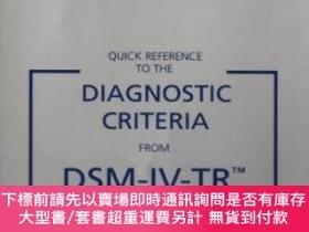 二手書博民逛書店Quick罕見Reference To The Diagnostic Criteria From Dsm-iv-t