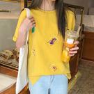 【GZ45】324#實拍夏季新款韓版學院風時尚休閒印花薄款寬鬆短袖T恤女
