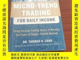 二手書博民逛書店Micro-Trend罕見Trading for Daily IncomeY154527 Thomas K.C