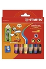 STABILO 6色三合一粉蠟筆組(附削筆器)*8806-2