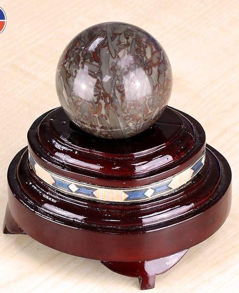 [協貿國際]天然竹葉石圓球保健球手球單顆價(不含底座)