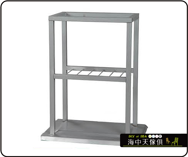 {{ 海中天休閒傢俱廣場 }} C-99 摩登時尚 餐桌腳系列 481-20 置物餐桌腳/烤黑/烤銀高腳