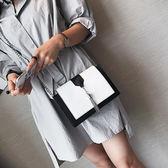 鏈條斜背小方包 女側背包《印象精品》b1384