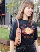 ■專櫃72折■ Chloe 全新真品 Darryl 小號紋理小牛皮小手袋 棕粉色