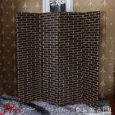 屏風隔斷客廳現代簡約 簡易折疊屏風玄關牆 中式實木行動酒店折屏定制QM   良品鋪子
