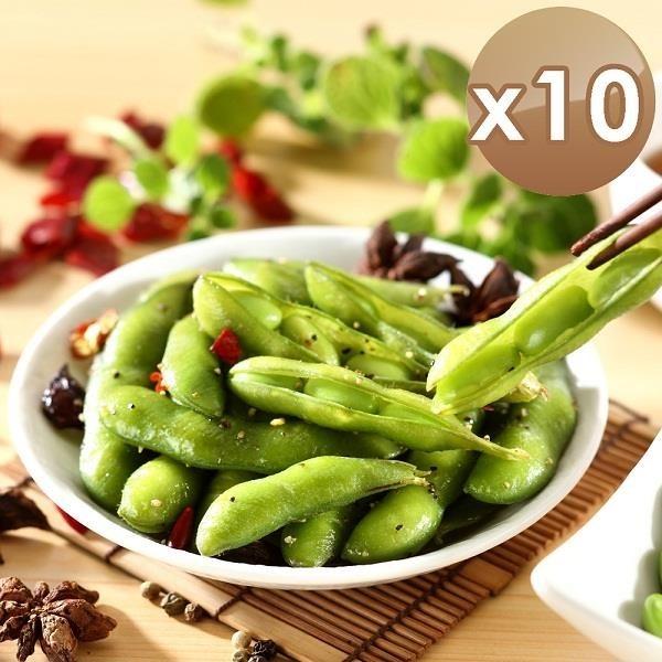 【南紡購物中心】【艾其肯】涼拌黑胡椒毛豆莢-10入組