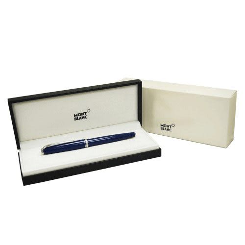 MONTBLANC 領航系列黑桿白金夾鋼珠筆*13427