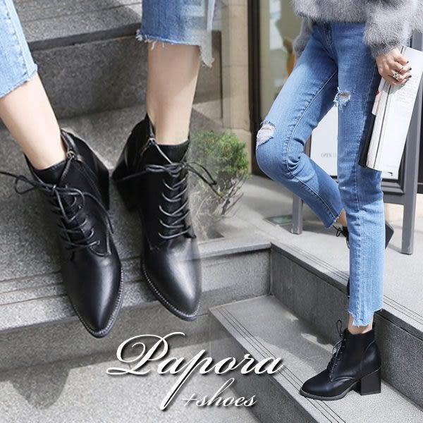 短靴.歐美時尚流行粗跟短靴