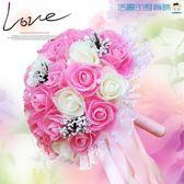 結婚手捧花韓式新娘仿真手捧花拍攝【洛麗的雜貨鋪】