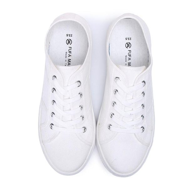 【富發牌】經典文青風小白鞋-白  8021H