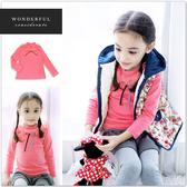 純棉 桃粉氣質蝴蝶結長袖上衣 5號賣場 5件299 秋冬 內搭衣 打底衣 女童