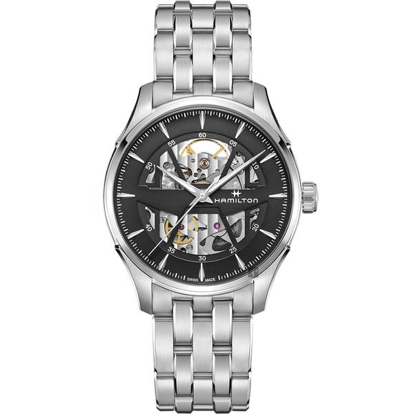 Hamilton 爵士系列鏤空機械錶-40mm(H42535180)