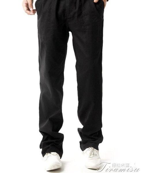 休閒長褲-亞麻褲男厚款運動褲寬鬆直筒棉麻中國風休閒褲大尺碼男裝褲子夏 提拉米蘇