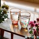 石塚硝子日本進口津輕玻璃杯手工彩色玻璃杯水杯茶杯【千尋之旅】