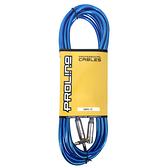 JYC Music 嚴選PRO LINE編織亮彩紋低雜訊導線(藍色)-4.5米/低雜訊/高傳導L接頭
