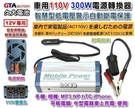 【久大電池】 300W 車用12V電源轉換器 12V轉110V 手機 筆電 小型電器 車上使用110V 外銷日本品
