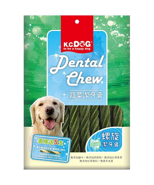 寵物家族-K.C.DOG螺旋潔牙骨葉綠素+雞肉300公克(G61-3)