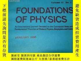 二手書博民逛書店FOUNDATIONS罕見OF PHYSICS 1985年 1.