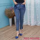 【RED HOUSE 蕾赫斯】拼接緊身牛仔褲(共二色) 任選2件899元