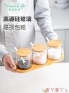 調味罐調料盒組合套裝廚房家用北歐調料罐子玻璃調味罐陶瓷鹽罐調味瓶罐 愛丫