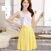 中大碼夏新款韓版顯瘦休閒連衣裙兩件套女抓皺洋裝  免運直出 交換禮物