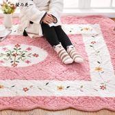 韓式加厚毛絨家用地毯臥室可愛滿鋪長方形床邊爬行墊榻榻米可機洗【櫻花本鋪】