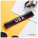 Catworld USA文字橫條運動髮帶【18003532】‧F
