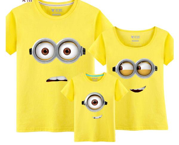 大眼小黃人banana短袖圓領T-Shirt上衣T恤情侶裝親子裝多色預購【mo-39159107538】