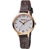 Timberland光輝交會時尚女腕錶  TBL.15265LSR/01