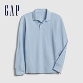 Gap男童簡約風格長袖POLO衫537946-藍色