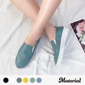 懶人鞋 縫邊休閒鞋 真皮鞋墊 MA女鞋 T18818
