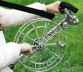 風箏 線輪背帶輪不銹鋼風箏輪五柱剎車高檔大型風箏-免運直出