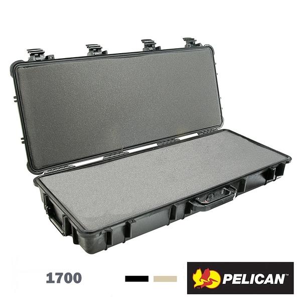 黑熊館 美國 派力肯 PELICAN 1700 長型氣密箱 含輪座 含泡棉 防撞箱 提箱 Long Case 防水