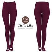 【露娜斯】120丹尼厚地20階段著壓設計踩腳式褲襪【棗紅】台灣製 LD-9003