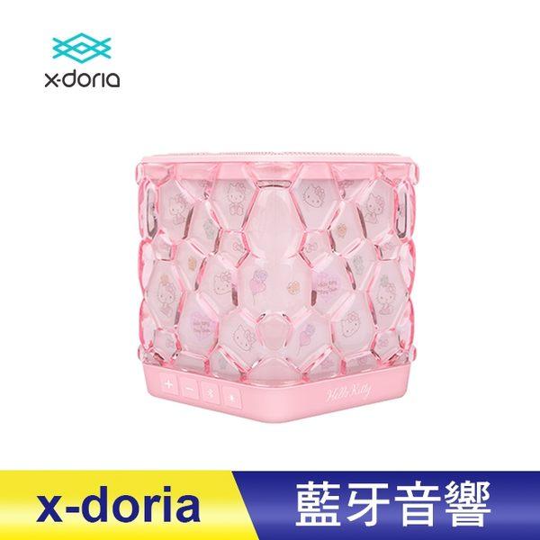 x-doria X Hello Kitty 水立方炫彩重低音無線藍芽音響 4種炫光模式 藍牙喇叭 粉