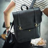 英倫韓版時尚潮流學院風男士雙肩百搭皮質後背包 Sq3100 『美鞋公社』