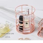 《ZB1021》質感玫瑰金圓形筆筒/化妝收納盒 OrangeBear