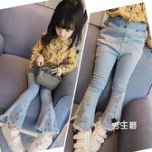 (萬聖節鉅惠)女童牛仔褲秋裝新品正韓兒童小女孩寶寶春秋款褲子長褲喇叭褲