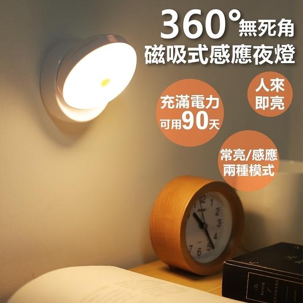 360度感應小夜燈 人體感應燈 充電款 LED小夜燈 感應燈 智能夜燈 磁吸式【RS1026】
