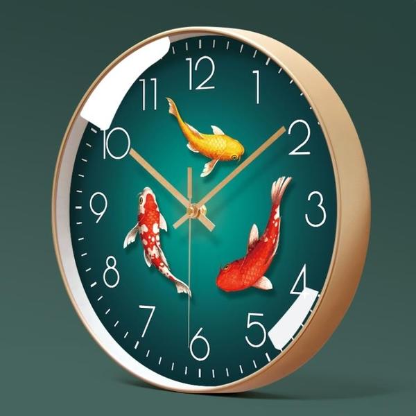 易普拉6005掛鐘客廳鐘錶簡約北歐時尚家用時鐘掛錶現代創意石英鐘 酷男精品館