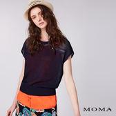 【網路獨賣】MOMA 假兩件背心針織上衣