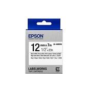 EPSON LK-4WBVN 原廠標籤帶(耐久12mm)白黑 C53S654479