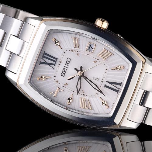 SEIKO 精工 LUKIA 浪漫心情太陽能電波腕錶 1B22-0CB0P  SSQW032J