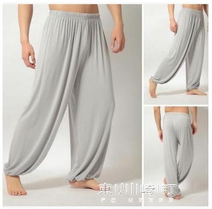 太極褲-棉綢燈籠褲瑜伽燈籠褲休閒寬鬆太極褲闊腿褲純色男女 東川崎町