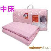 媽咪小站 嬰兒乳膠加厚中床墊-日系水玉粉 (M 59x119x3.5cm)
