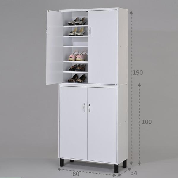 ONE HOUSE-DIY-歐風鞋櫃 收納男鞋2組可收納60雙鞋以上 超大容量 鞋架